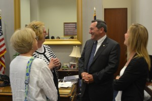 From Left to Right: Meg Mitzler, Elkhart, IN; Jan Lutz, Indianapolis, IN; Indiana Senator Joe Donnelly; Patty Covington, Muncie, IN