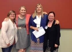 Emily Perry, Susie's Place Child Advocacy Center; Cerina Marlar, Midwest Regional Child Advocacy Center; Jan Dunn and Alyson MacKenzie, National Children's Alliance.