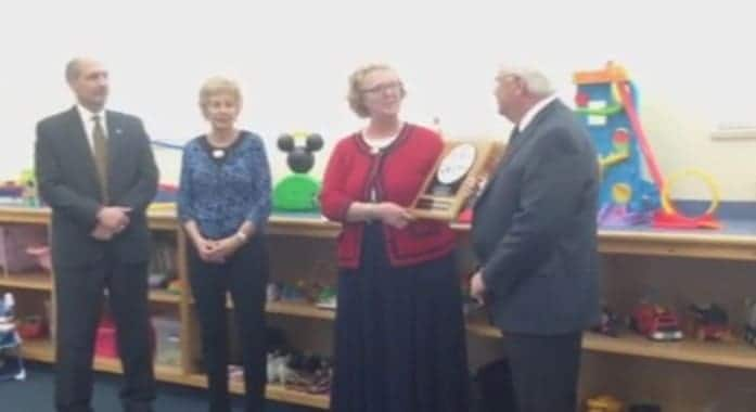 CASIE Center is Presented National Accreditation Plaque